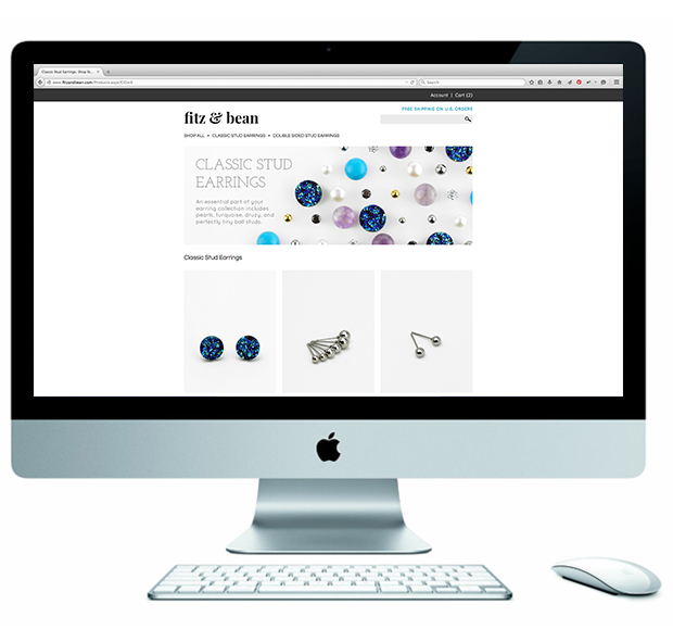 Fitz and Bean Home Page Design