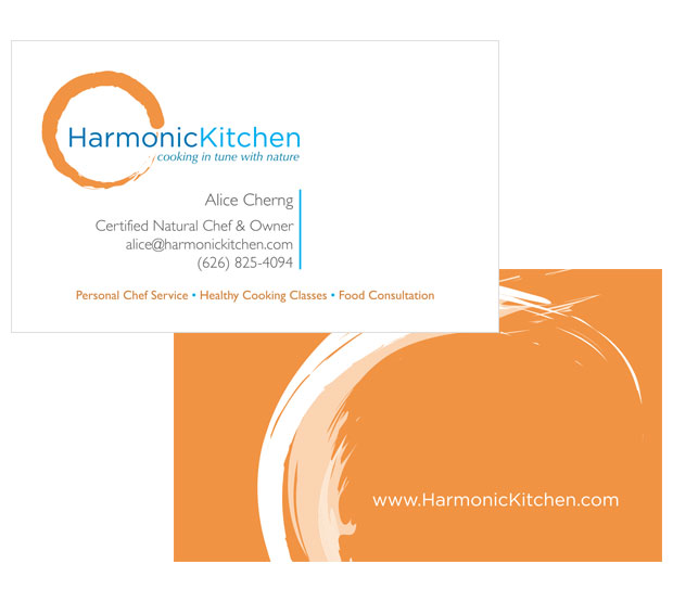 Harmonic Kitchen Business Card Design