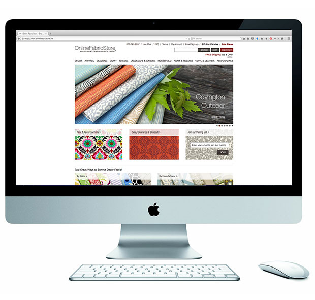 Online Fabric Store Home Page Design