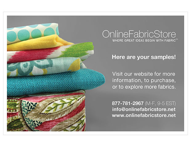 Online Fabric Store Postcard Design
