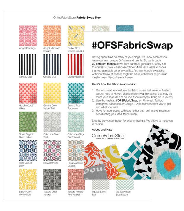 Online Fabric Store Fabric Swap Inserts Design